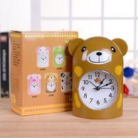 Wholesale Creative Cartoon Characters Bear the Alarm Clock Children Bedroom pPastic Pointer the Alarm