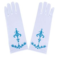 Wholesale Full Finger Gloves for Halloween Christmas Party Snow Queen Elsa Gloves Elsa Cosplay Costume Snow Queen Child Anime Gloves Coronation