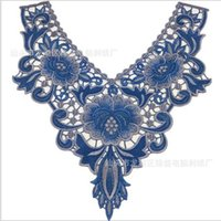 Wholesale Embroidered Lace Neckline Collar Lace Venice Venise Applique Motif Patches Scrapbooking Embossed Sewing Accessories