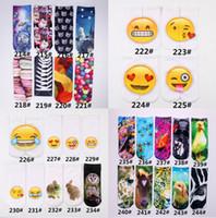 animal novelty socks - 300 Design D women men emoji short socks DHL Children cotton Creative novelty animal Funny alien QQ expression smiling face socks B001