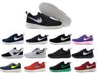 barefoot running shoes - 2016 Mens women Roshe run running shoes London Olympic Rosherun lightweight breathable Barefoot Walking training sports shoes sneakers
