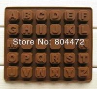 al por mayor letras de molde de la jalea-30 x Fácil siliconado de letra del alfabeto de moldes de chocolate | Antiadherente molde de la hornada | Torta de la jalea -1375