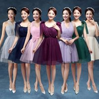Wholesale Evening Party Time limited Direct Selling Short Wedding Dress Bridesmaids Dress Bridesmaid Dresses Sisters Skirts Evening Graduation