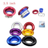 Wholesale Universal quot mm Short RAM Cold Air Compressor Intake Inlet Velocity Stack Turbo Horn Kit silicone Red Blue Purple Black Gold Siliver