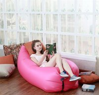 Wholesale 2016 Camping Sleeping Air Sofa Seconds Quick Open Lazy Chair Ourdoor Bed Fast Inflatable Lamzac Hangout Sleeping Bag Sofa Loung