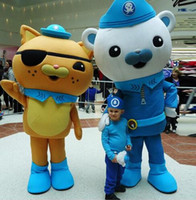 Wholesale Hot Sale lively Octonauts Movie Captain Barnacles kwazii Polar Bear Police Mascot Costumes Adult Size