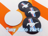 Wholesale 4pcs Car styling mm Mustang Running Horse Car Emblem Wheel Center Hub Cap Resin Badge wheel Decal Sticker