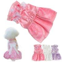children apparel - 2016 Fashion Pet Puppy Dog Dress Girl Princess Formal Gown Clothes Suit Set Wedding Dress Apparel Events P1