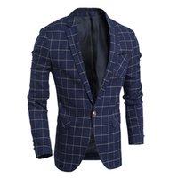 Wholesale Fashion XL Men s Blazer Masculino Long Sleeves Summer Clothing For Men European Style Gold Blazer For Men Jackets S1210