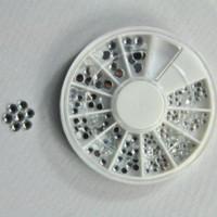 Wholesale 10pcss Style Rhinestone Decoration D Design Nail Art Tips Wheel Nail Art Tools decor tool bottom