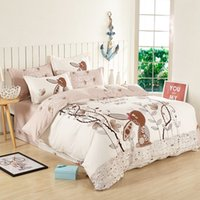 beds solid wood - Wood color cute rabbit comforter sets bedding set bedding cotton cartoon style bedding bed cover queen size comforter