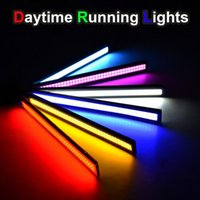 Wholesale update Ultra Bright LED Daytime Running lights DC V cm Waterproof Auto Car DRL COB Driving Fog lamp car styling