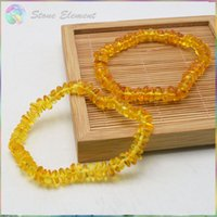 baltic amber beads - Genuine Natural Baltic Amber Chips Tumbled Beads Bracelets cm Length