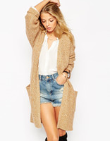 belted cardigan sweater - 2016081112 long knitting cardigan sweater in Europe and the United States the new fashion belts