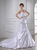amazing style - Amazing Strapless Sequins Waist First Class Satin Bride Dresses With A Jacket Fall Style