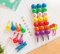 Wholesale 500pcs Stationery Colorful WaterColor Brush Smiley Cartoon Pens Pencil Markers Children s Toys Gifts Watercolor pen colors