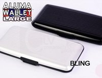 Wholesale Extra Large Aluma Wallet ID Credit Card HolderProtect RFID Scanning