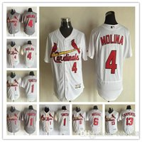 Wholesale 2016 Flex Base St Louis Cardinals Jersey Yadier Molina Ozzie smith Matt Carpenter Stan Musial Baseball Jerseys
