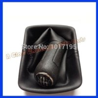 auto shift boot - Auto Car Gear Shift Knob amp Giator Leather Boot Speed for VW Polo N N2 Car Accessories