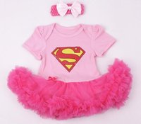 bebe dress blue - hot Blue Superman Baby Costumes Lace Petti Romper Dress st Birthday Outfits Bebe Jumpsuit Newborn Girl Clothes Infant Clothing