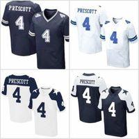 Wholesale 2016 NEW PRESCOTT Dak Prescott Cowboys Blue White Thanksgiving Day Stitched Elite Football Jerseys Free Drop Shipping