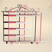 Wholesale 1Pcs Earrings Ear Studs Necklace Jewelry Display Rack Metal Stand Organizer Holder New Style Jewelry Rack