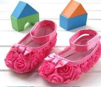Wholesale S002 Children s Shoe Color Rose Infant Baby Shoes Girls Toddler Soft Sole Rose Flower Newborn Months