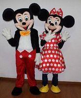 CALIENTE Traje adulto Tamaño Mickey Mouse y Minnie Mouse traje de la mascota