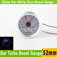 auto gauge boost - 52mm Turbo Boost Gauge Bar White LED Universal Auto Car Boost Meter Bar Turbo Boost Pressure Gauge Auto Gauge Car Meter Gauges