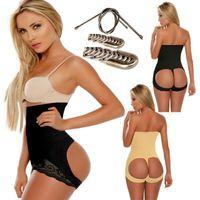 Wholesale Seamless Hot Butt Lift Booster Booty Lifter Panty High Waist Tummy Control Shaper Enhancer Body Shaperwear Shapers Waist Trainer Black Beige