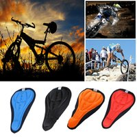 Wholesale MEN color Cycling Bike Saddles D Comfortable Silicone Gel Seat Cover Cushion Soft Bicycle Pad Mountain Bike Parts Acessories