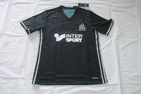 Wholesale The Thai version of Marseille home court No Gene Ark white short sleeved shirt dress shirt Ayoubi football training