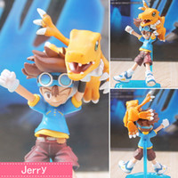 action figure digimon - Anime Digimon Adventure Yagami Taichi Agumon Ver PVC Action Figure Collectible Model doll toy cm