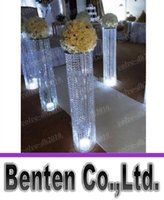 acrylic wedding columns - 3ftTall ACRYLIC WEDDING DECORATION CRYSTAL WALKWAY PILLARS PEDESTALS COLUMNS LLFA11