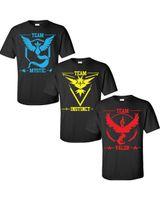 Wholesale Poke Go T shirt Black Team Valor Mystic Instinct Pokeball Plush Hoodie Nerd