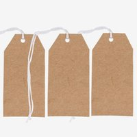 Wholesale 100 Brown String Strung Tie Luggage Tag Label x35mm