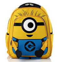 Wholesale 50pcs Despicable Me children cartoon Minion child minions bag backpack for kids children school bags for students schoolbag