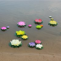 artificial water lilies - Artificial Plastic Fake EVA Flowers Cheap for Wedding Decoration Manualidades Mariage Flores Plants CM Diameter Water Lily Lotus