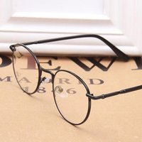 Wholesale LJJL214 Fashion Full Rim Metal Eyeglasses Frame Spectacle Plain Optical Glasses Vintage Women Round Glass Pieces