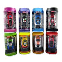 Wholesale Multicolor Coke Can Mini Speed RC Radio Remote Control Micro Racing Car Power Cars Toy Gift Cans Shipping