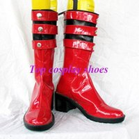 accessories riding boot - Freeshipping Kamen Rider Kamen Ride Hana PU Leather Cosplay Shoes boots red GAI012