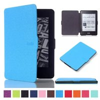 Wholesale Ultra Slim Smart Magnetic PU Leather Case Cover For Amazon Kindle Paperwhite case mix color by dhl