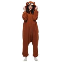 Wholesale Japen Kigurumi Pajamas Adult Brown Bear Sleepwear Cosplay Christmas Halloween Costume Gift Present Onesies Party Jumpsuit