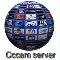 achat en gros de french-1 an CCcam Europe 4 Clines Server HD 12 Mois compte pour Espagne Royaume-Uni Allemagne Français Italie Pologne Décodeur satellite avec câble AV