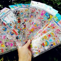 Wholesale 100 Cute Kawaii Cartoon Stickers KidsToys Puffy Pattern Teacher Lovely Reward Stickers for Children Back To School Gift