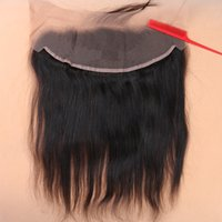 Wholesale Slove Hair Products Brazilian Virgin Human Lace Frontal Closure Straight With Baby Hair Full Frontal Lace Closure x4 Frontals