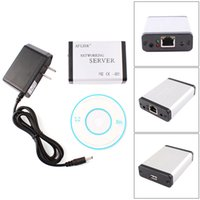 Wholesale USB Ethernet Network LPR Print Server Printer Share Hub Adapter with LED