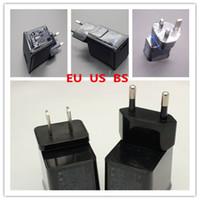achat en gros de onglet galaxie eu chargeur-5V 2A 1A Chargeur USB Chargeur secteur Adaptateur US BS EU Pour Samsung P1000 P6200 P3100 P7500 P5100 N8000 N8010 noir