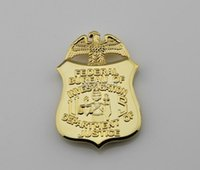 Wholesale Replica Police Cop Metal Badge High Quality Federal Bureau Of Investigation Department of Justice Normal Size cmX7 cm