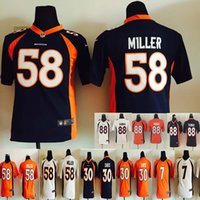 Wholesale Youth Broncos Stitched Football Jerseys Von Miller Demaryius Thomas Elway Davis Kids Jerseys